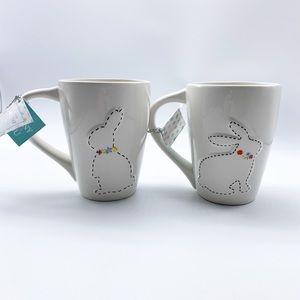 NWT Envogue Ceramic Bunny  Easter Coffee Mugs 16oz